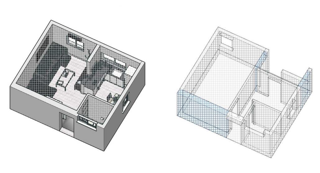 גיאומטריה סמויה במודל סקצ'אפ