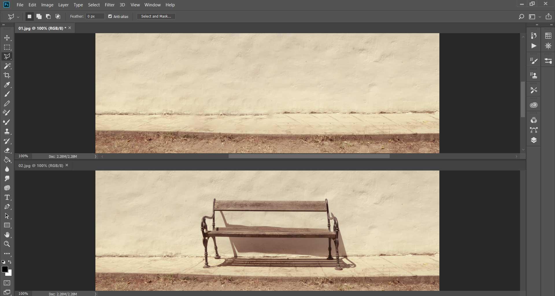 דוגמא של לפני ואחרי