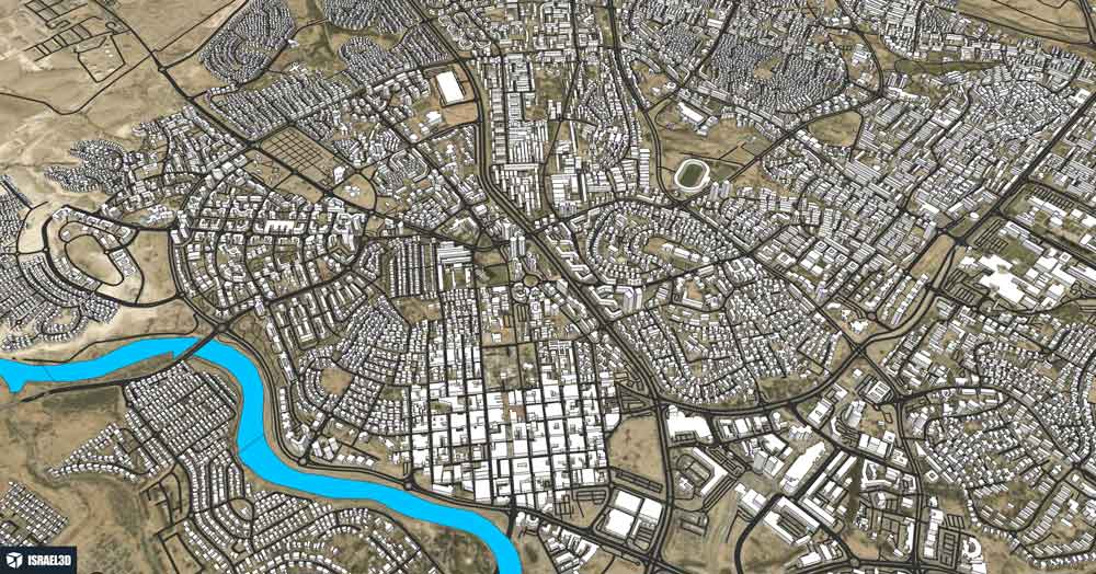 מודל תלת ממדי של העיר באר שבע