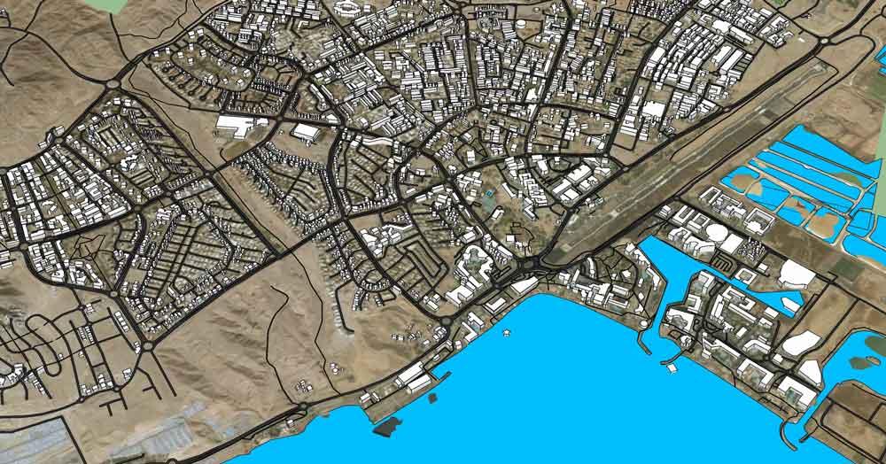 מודל תלת ממדי של העיר אילת