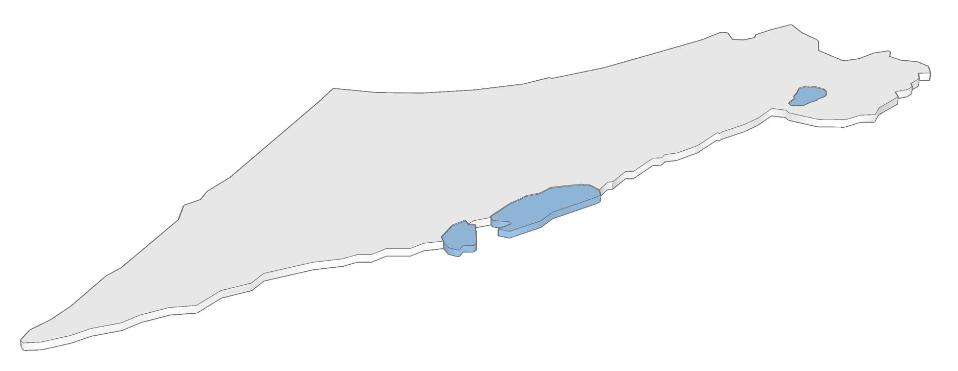 מפת ישראל בתלת מימד