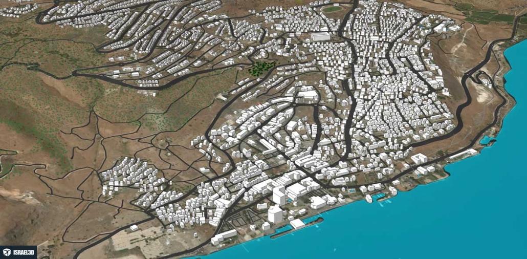 מודל תלת ממדי עירוני של העיר טבריה