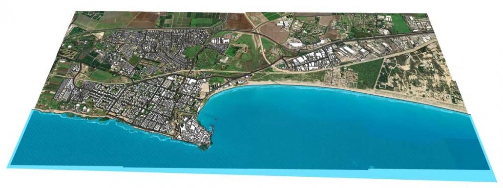 מודל תלת ממדי עירוני של העיר עכו