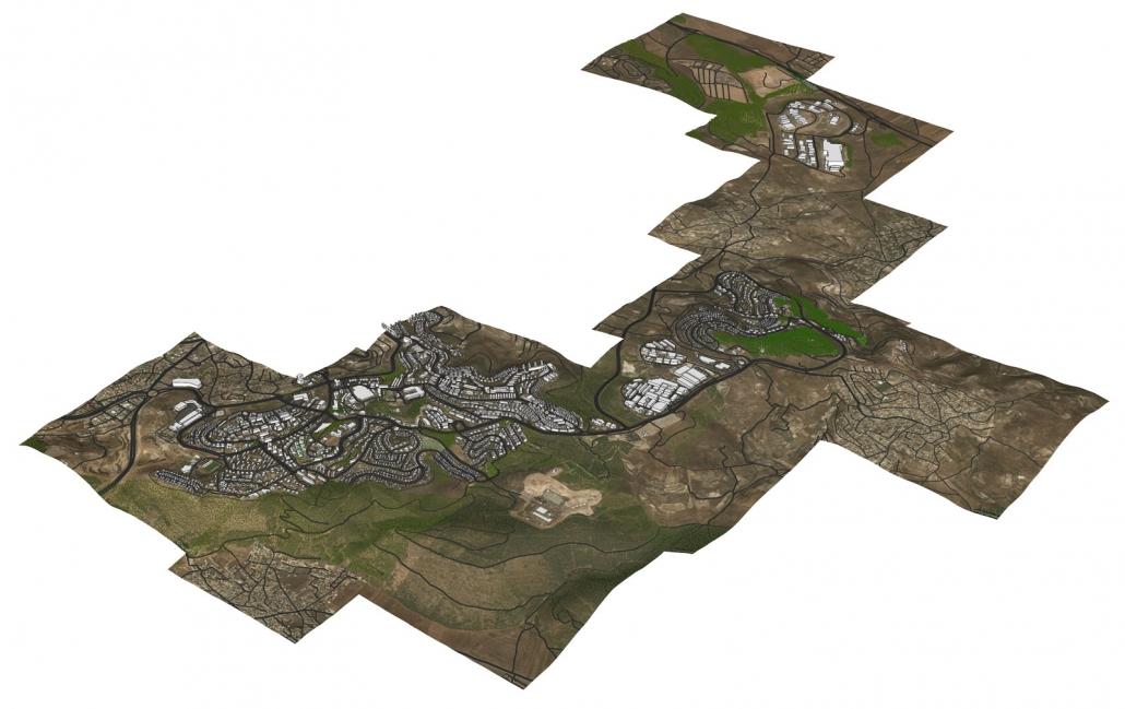 מודל תלת ממדי עירוני של העיר נצרת עלית