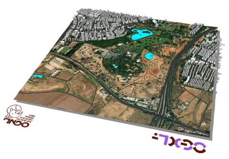 מודל תלת ממדי עירוני של הספארי ברמת גן