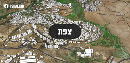 מודל תלת ממדי עירוני של העיר צפת