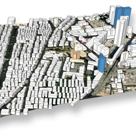 דוגמא למודל תלת ממדי עירוני